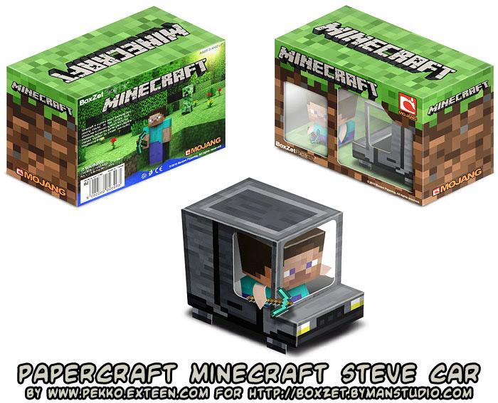 Ninjatoes papercraft weblog papercraft minecraft steve car papercraft minecraft steve car maxwellsz