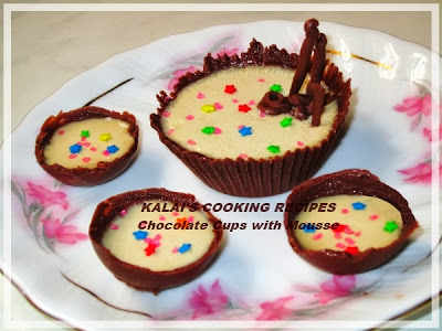 Simple Chocolate Cups with Mousse Recipe - New Year Special