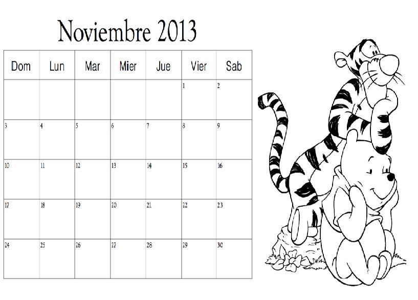 Dibujo del Mes de Noviembre 2013 para colorear ~ Colorea el dibujos