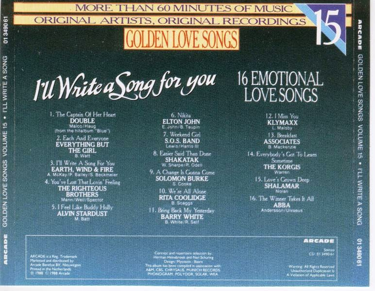 Golden love songs vol 15 ill write a song for you 1988mp3