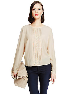 Marks and Spencer Pintuck Front Blouse