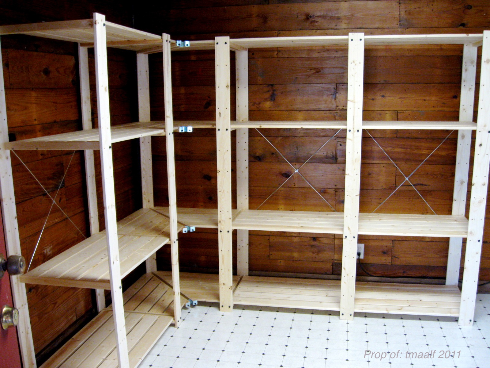 Wood Storage Shelves : Two Men and a Little Farm: MUDROOM SHELVING