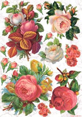 Декупажная карта розы