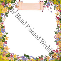 wedding guest book canvas spring bouquet green design