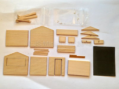 The market stall kit components