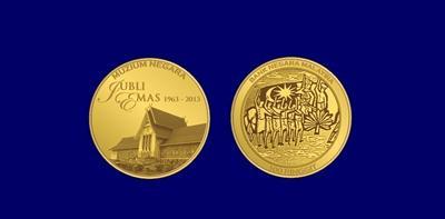 The gold commemorative coin