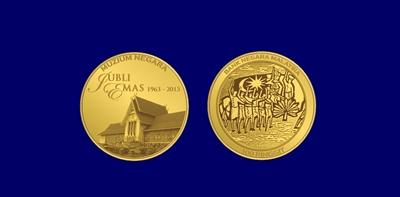 The gold commemorative coin