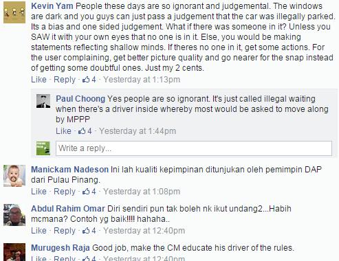 Gambar Kereta Guan Eng Salah Parking Jadi Viral