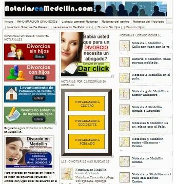 Tres años de la web de Notarias en Medellin