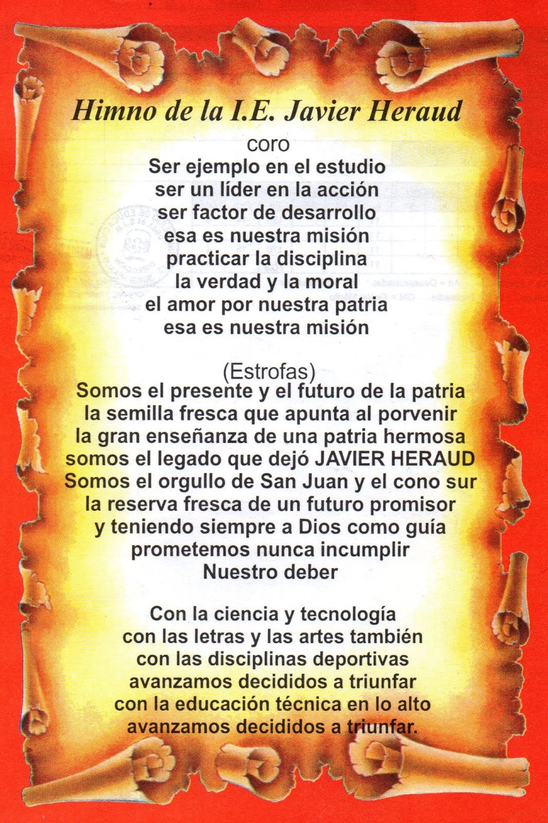 Himno Institución Educativa Javier Heraud