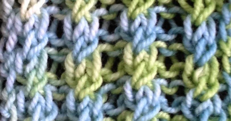 Knit Into Stitch In The Round Below Next Stitch : Cross Stitch Ribbing The Weekly Stitch
