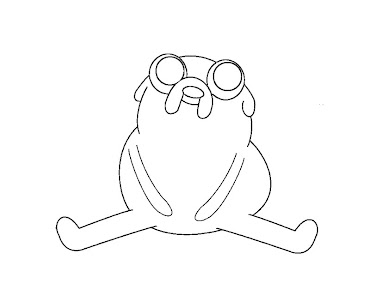 #7 Jake Coloring Page