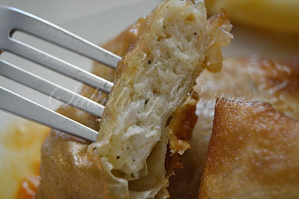 Rollitos Fritos De Bacalao