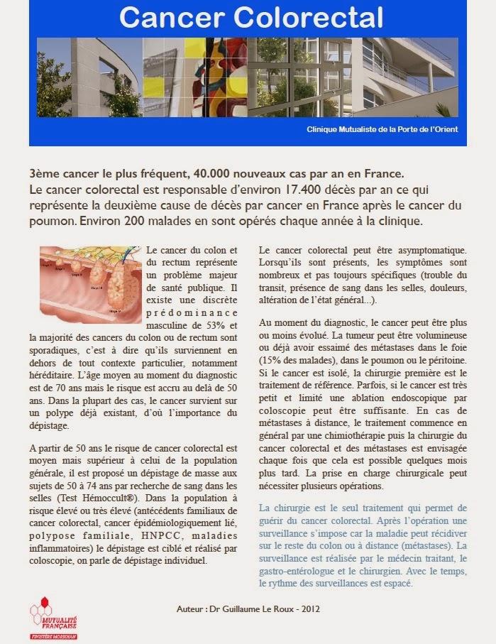 Chirurgie digestive et hepato biliaire cancer colorectal - Clinique mutualiste de la porte de l orient ...