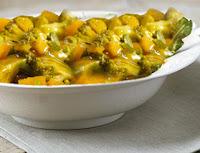 Cozido de Mandioquinha com Brócolis