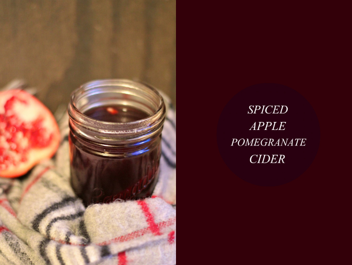 The Inglenook: spiced apple pomegranate cider.