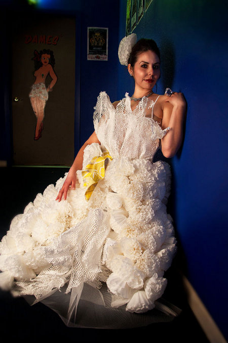 Coffee Filter Made Out of Wedding Dress