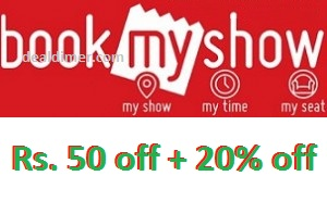 BookMyShow Offer: Get Rs.50 OFF winpin