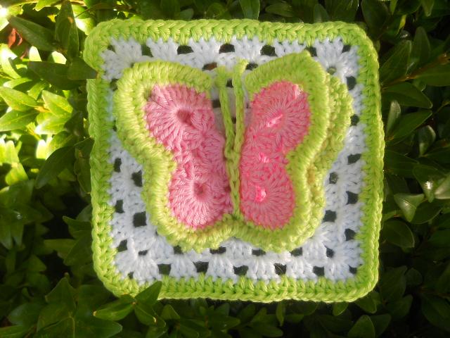 Butterfly squares Crochet Pinterest