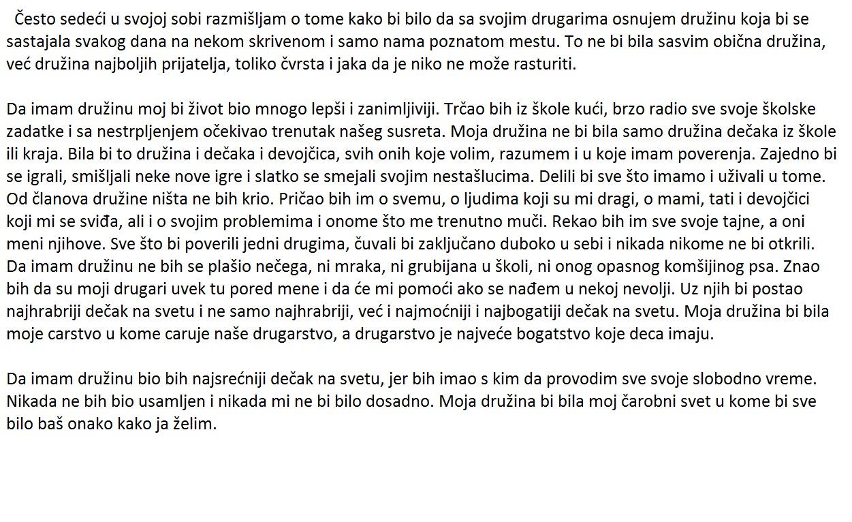 Teme Za 4 Pismeni Zadatak Iz Srpskog Jezika Sastav Pismeni