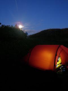 Nammatj 2, tält månsken, hemtrevnad, tältliv