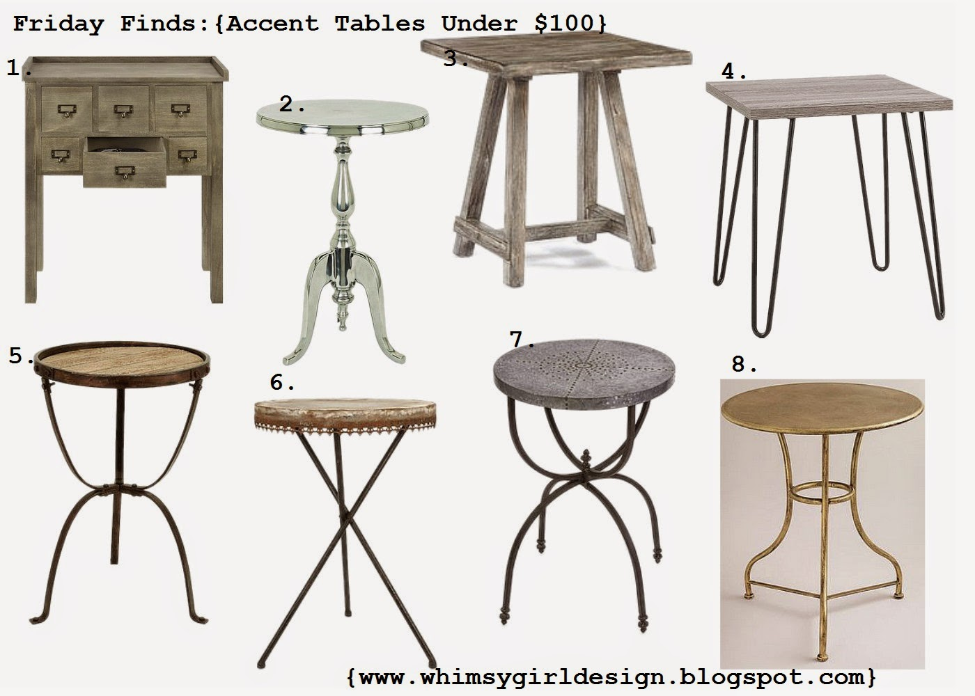 Friday Finds: {Accent Tables Under $100}