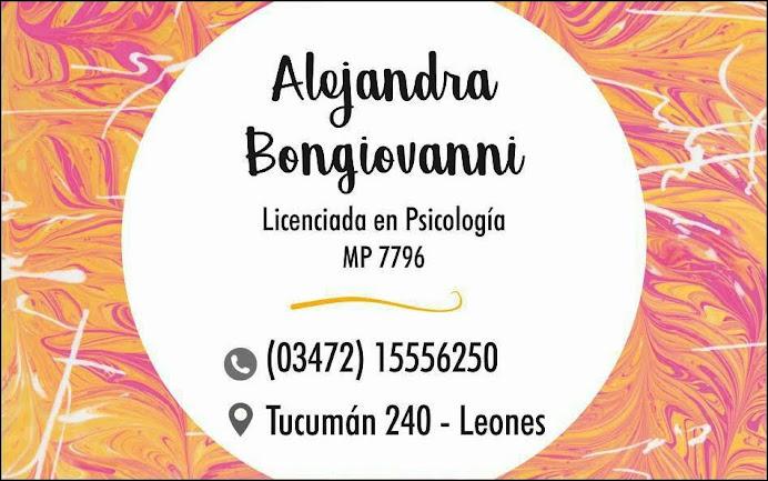 ESPACIO PUBLICITARIO: LIC. PSICOLOGÍA ALEJANDRA BONGIOVANNI
