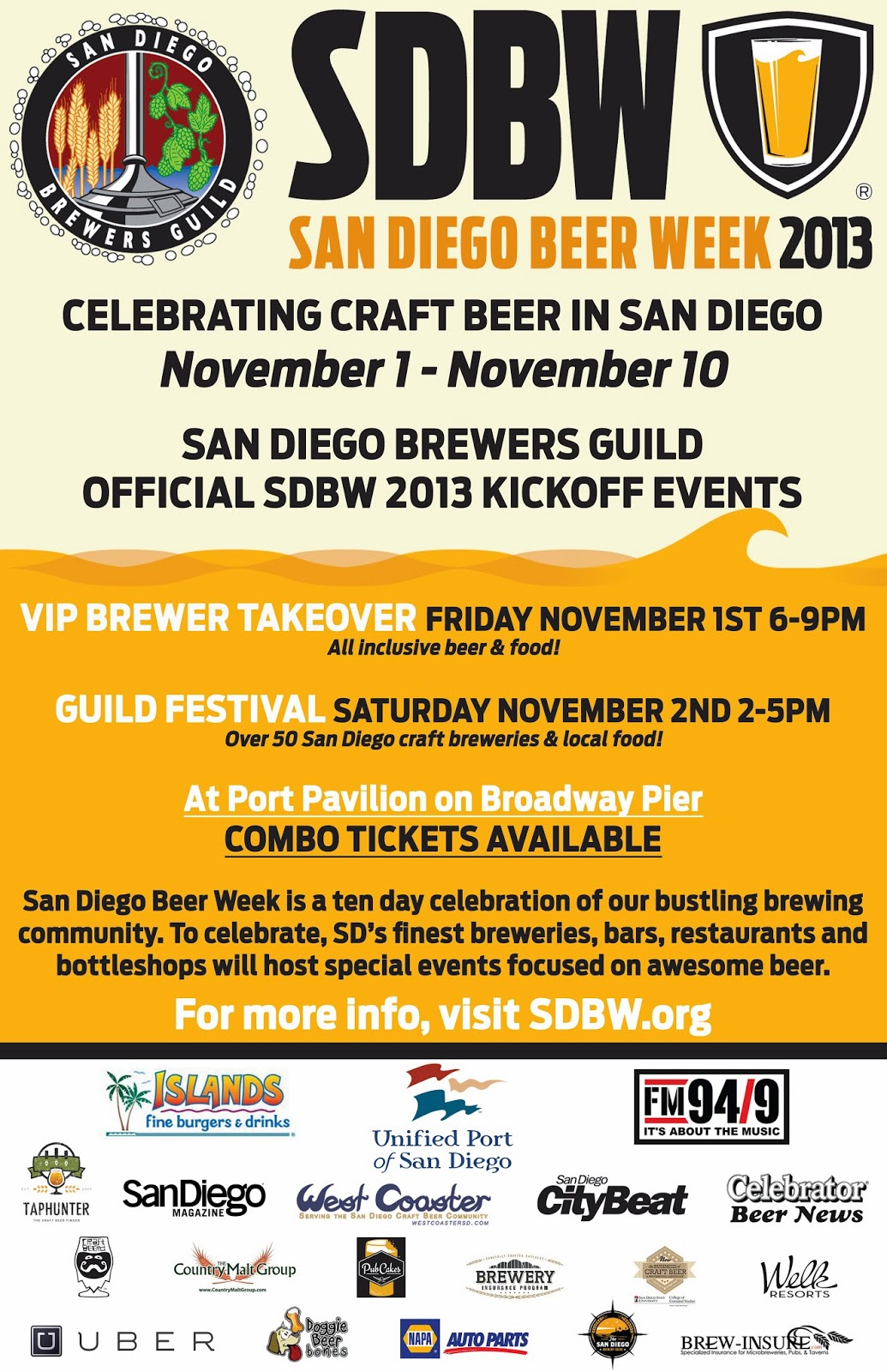 Fm 94 9 kicks off san diego beer week for Craft beer guild san diego