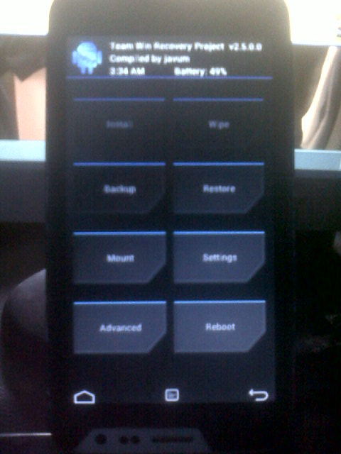 RecoveryTWRP 2500 Team Win Recovery Project RELEASE Port For ADVAN S5E PRO KITKAT MT6572