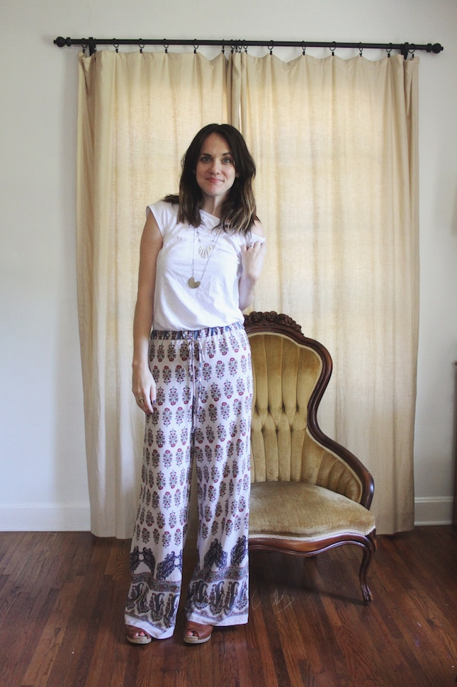Marin Mixed Print Wide Leg Soft Pant by Papermoon
