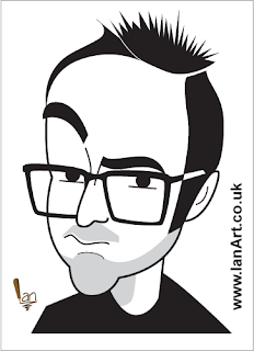 Danny Wallace Caricature