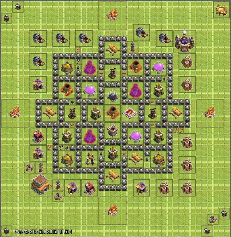 Base th8 free base th8 top farming base clash of clans coc base