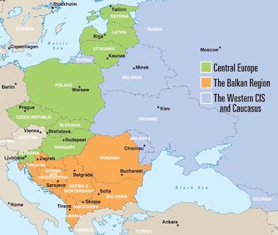 Carte de Europe de l'Est Carte