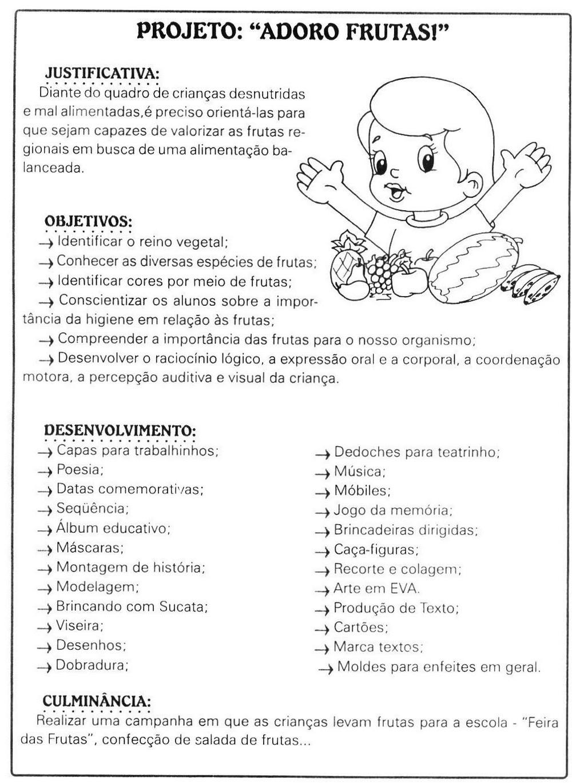 Top Para Bons Educadores: Projeto Frutas Para Educação Infantil II99