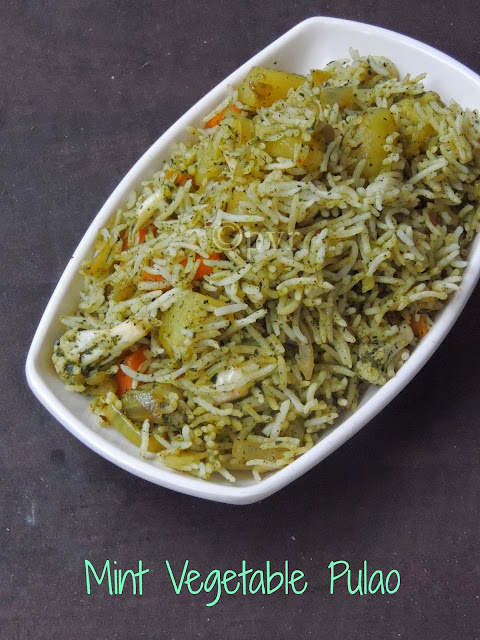 Mint Vegetable Pulav