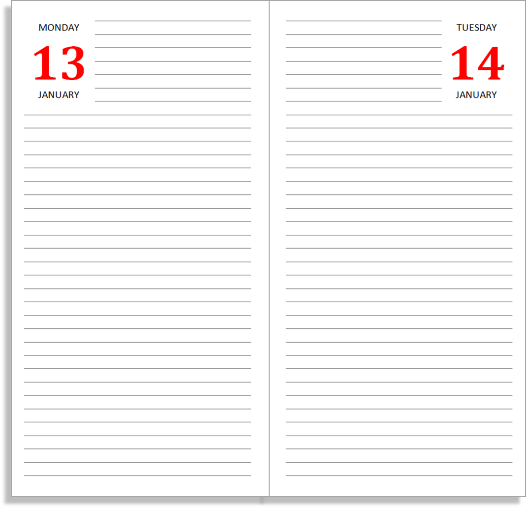 My life all in one place free daily journal sets for the for Double sided journal entry template
