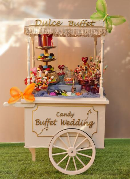 Candy buffet vintage candy buffet vintage for Carritos de chuches para comuniones precios