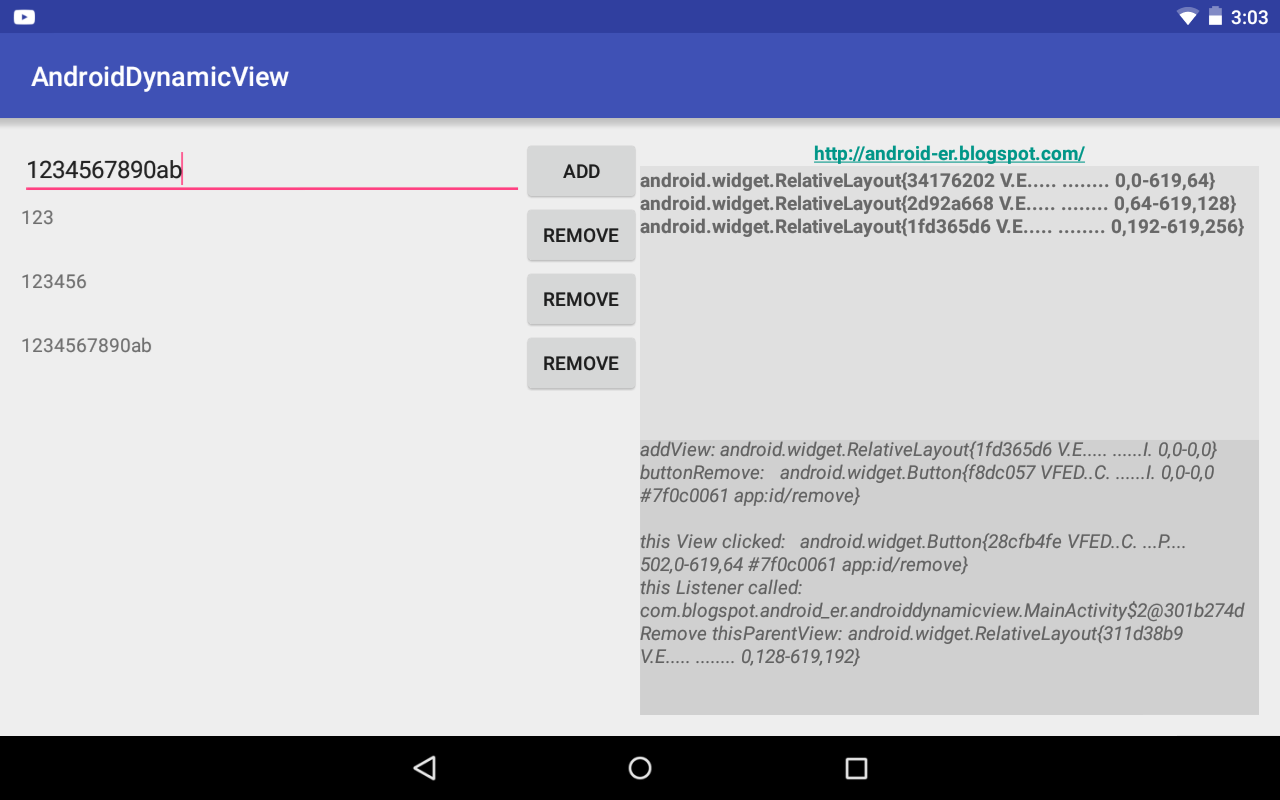 Add and Remove view dynamically, another approach