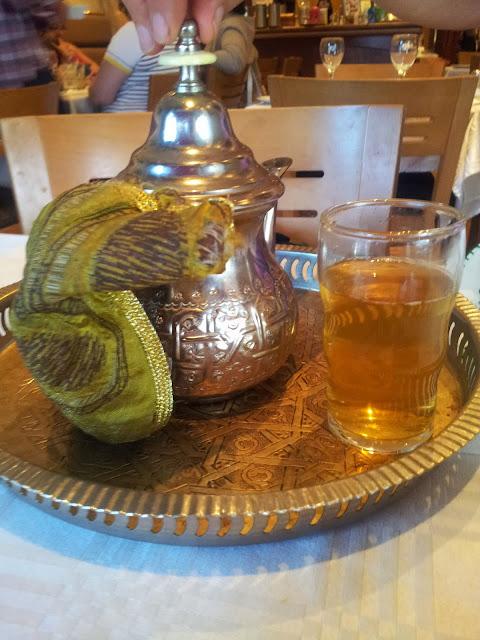 thé, théière, chiffon, laiton, Maroc