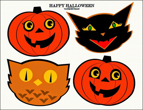 My owl barn vintage halloween printables - Printable halloween decorations ...