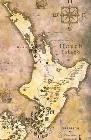 Localizaciones del rodaje de El señor de los Anillos en Nueva Zelanda Isla Norte