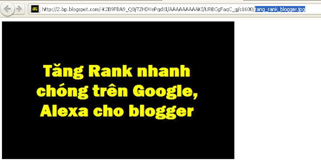 Tăng rank cho blogger trên Google Alexa