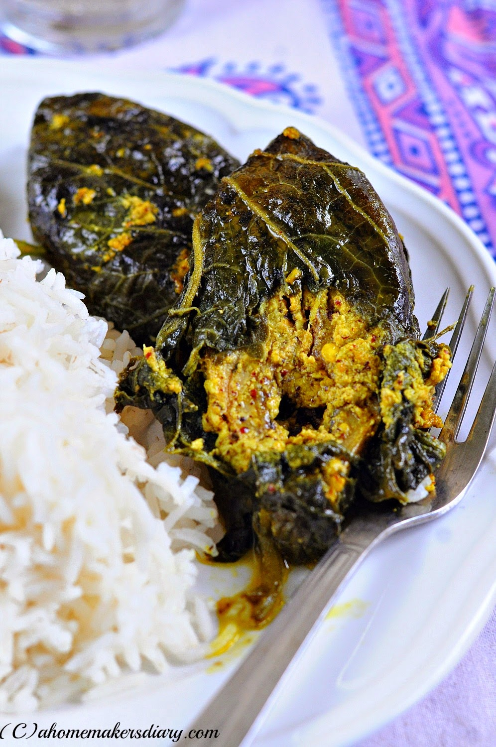 Kumro Patay Ilish (Steamed Hilsa in Pumpkin leaves)