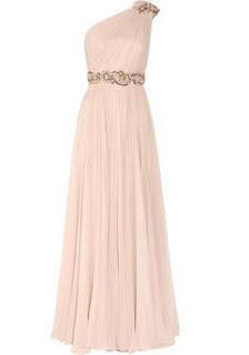 Chiffon One Shoulder Party-