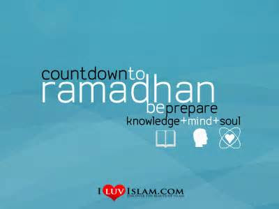Countdown to Ramadhan