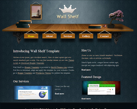 Wall Shelf Blogger Theme