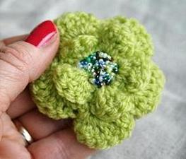 Crochet Brooch Flowers