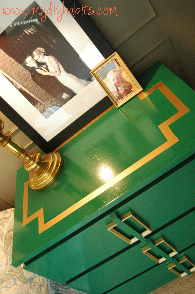 Ikea Hack Emerald Green Bedside Table Upgrade BlogHer