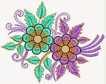 Embdesigntube saree pallu hand embroidery applique designs - Appliques exterieures ontwerp ...
