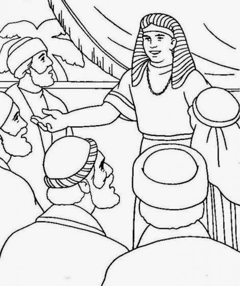 Atividade para colorir José e seus irmãos